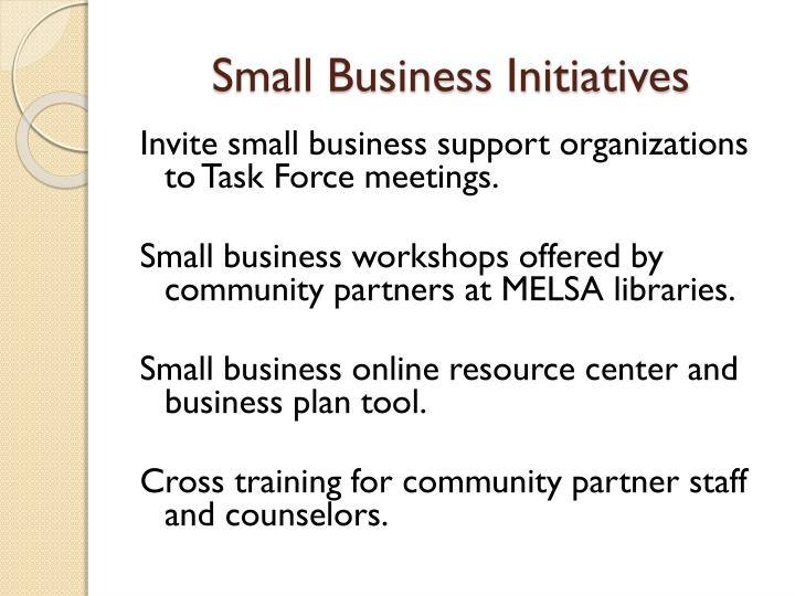 Small Business Initiatives