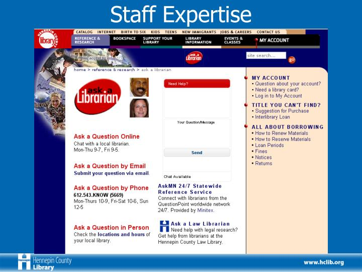 Staff Expertise