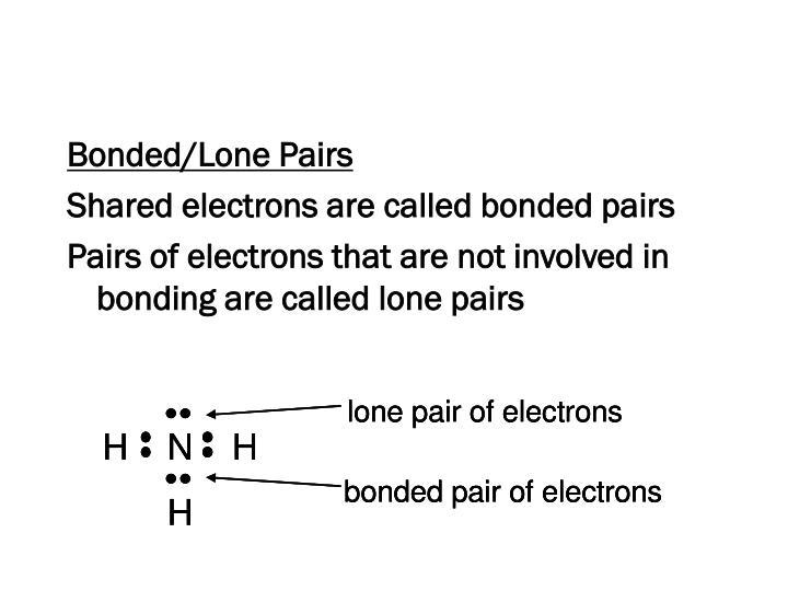 Bonded/Lone Pairs