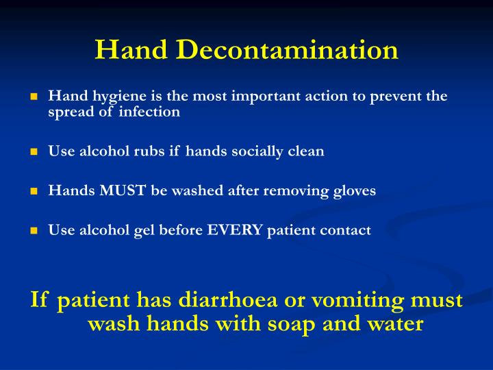 Hand Decontamination