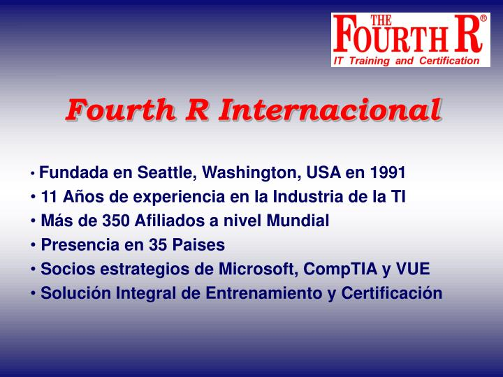 Fourth R Internacional