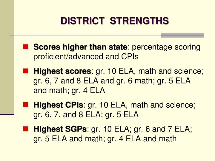DISTRICT  STRENGTHS