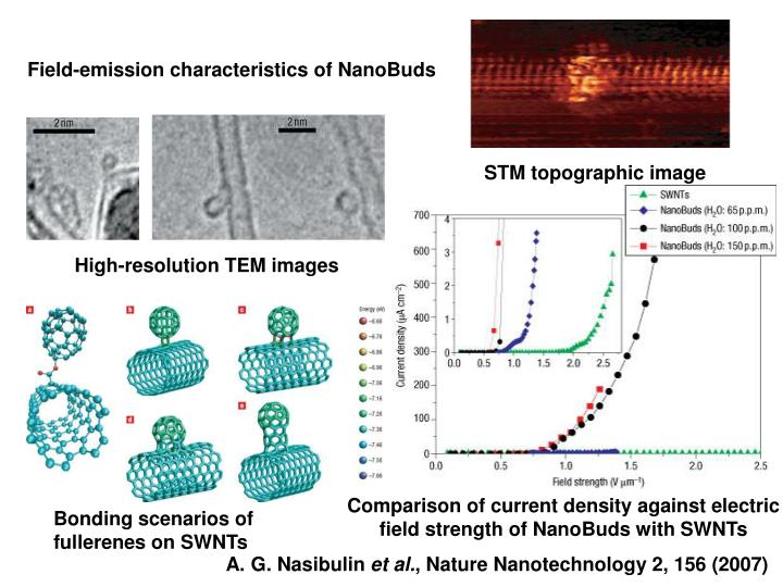 Field-emission characteristics of NanoBuds