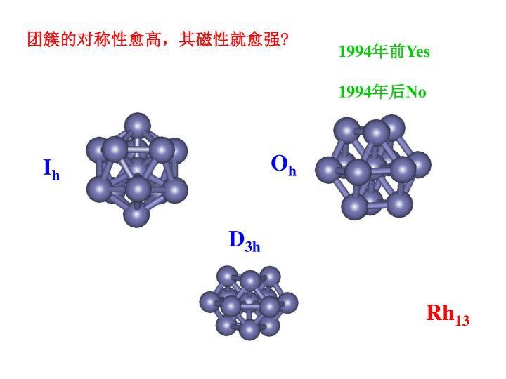 团簇的对称性愈高,其磁性就愈强