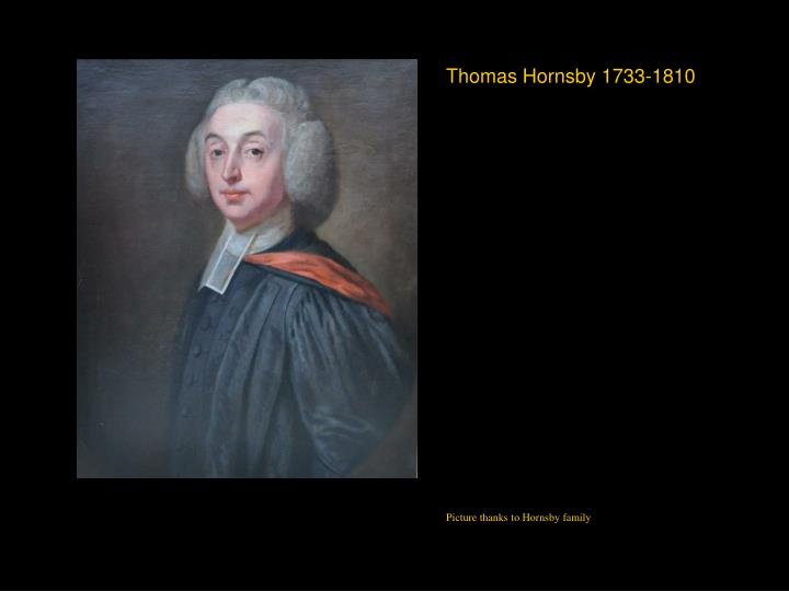 Thomas Hornsby 1733-1810