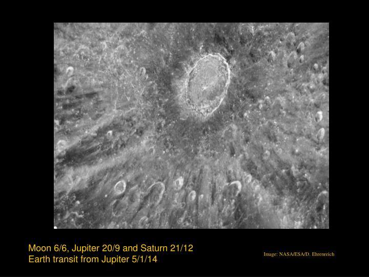 Moon 6/6, Jupiter 20/9 and Saturn 21/12