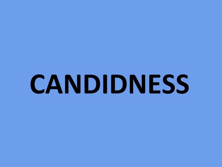 CANDIDNESS