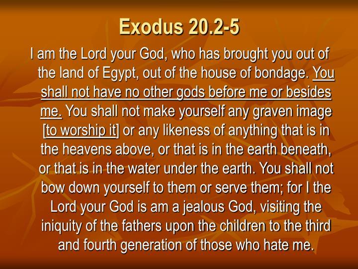 Exodus 20.2-5