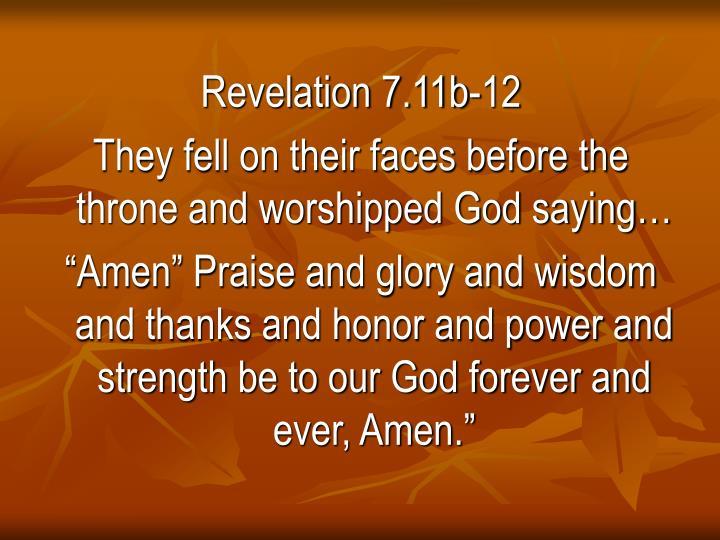 Revelation 7.11b-12
