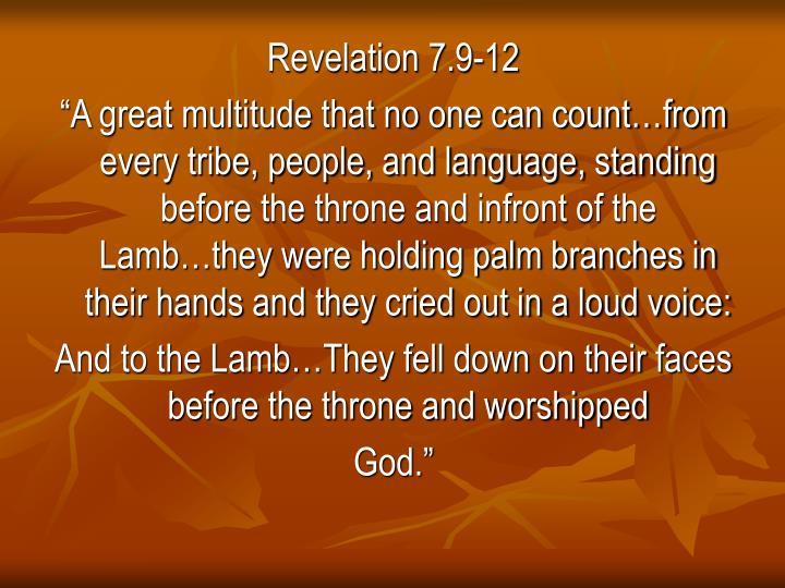 Revelation 7.9-12