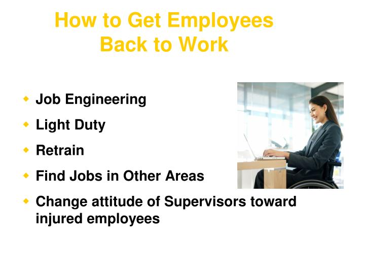How to Get Employees Back to Work