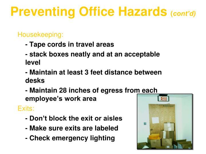 Preventing Office Hazards