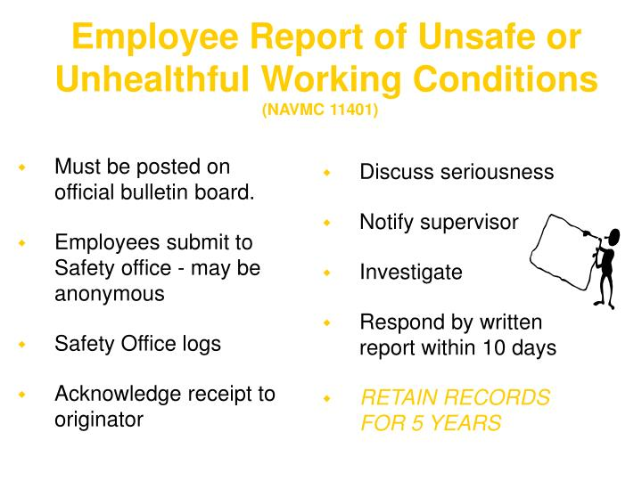 Employee Report of Unsafe or Unhealthful Working Conditions