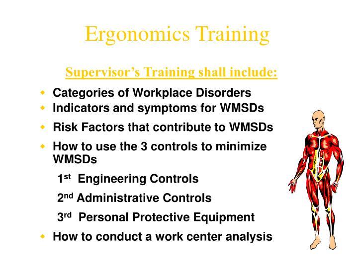 Ergonomics Training