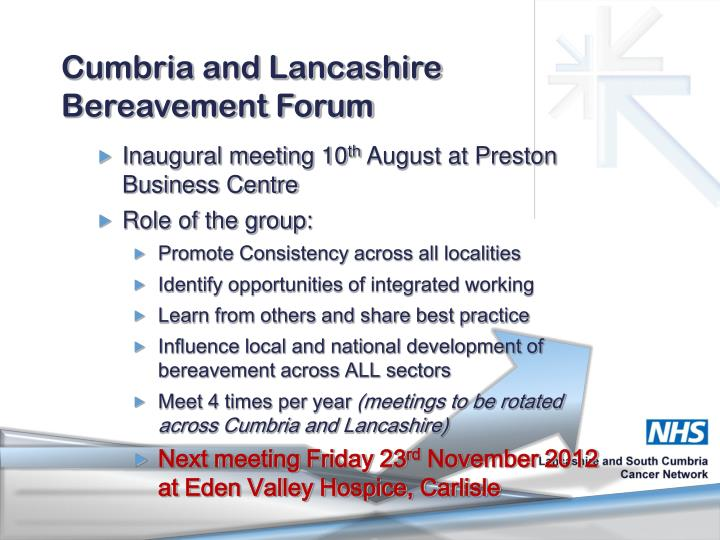 Cumbria and Lancashire Bereavement Forum