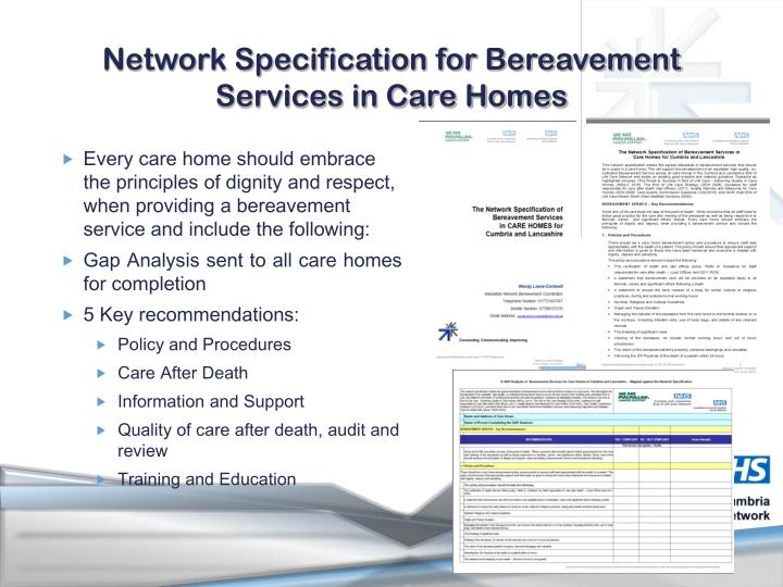 Network Specification for Bereavement Services in Care Homes