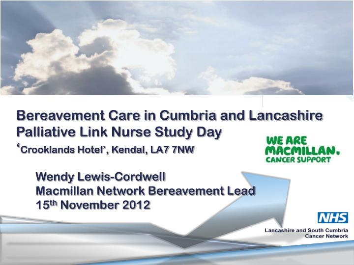 Bereavement Care in Cumbria and Lancashire