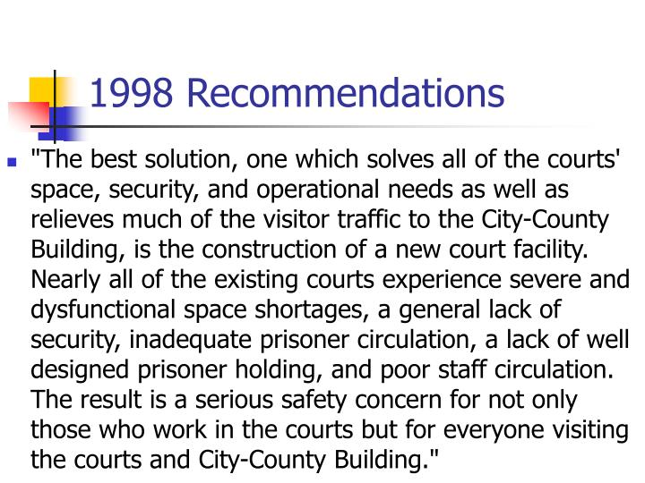 1998 Recommendations