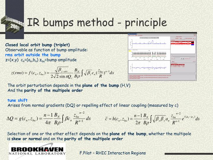 IR bumps method - principle