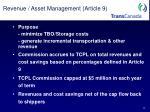 revenue asset management article 9