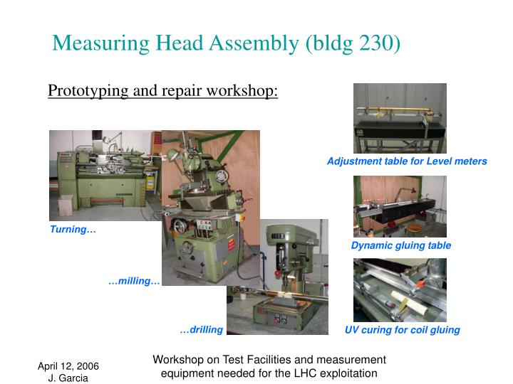 Measuring Head Assembly (bldg 230)