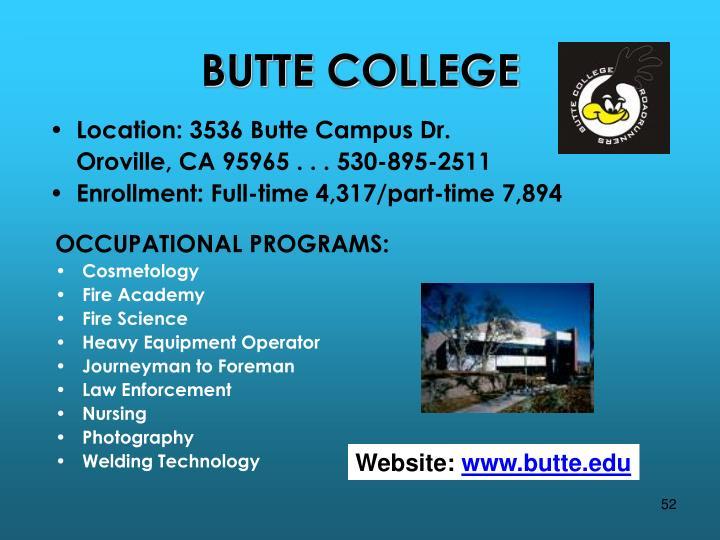Location: 3536 Butte Campus Dr.
