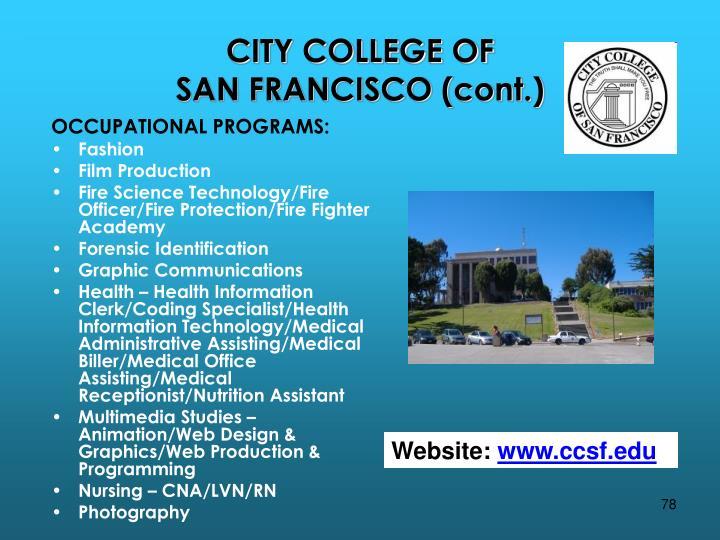 CITY COLLEGE OF