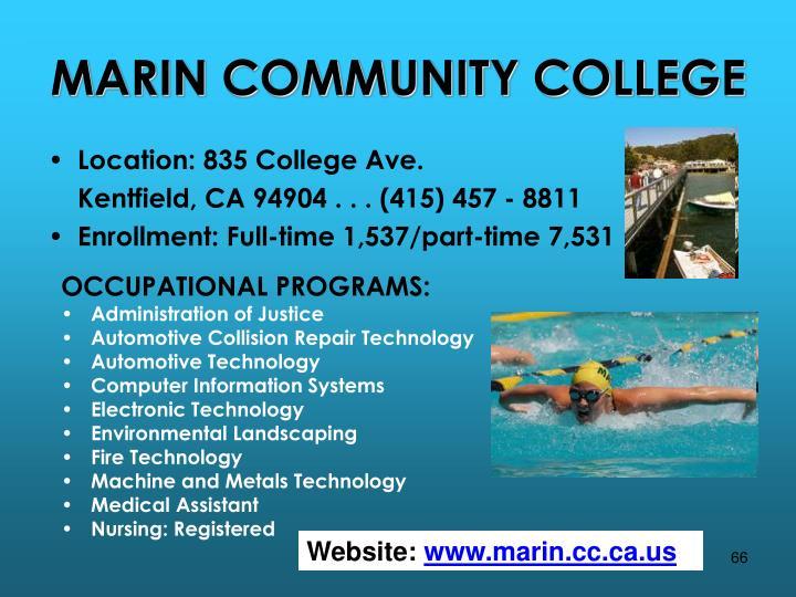 MARIN COMMUNITY COLLEGE
