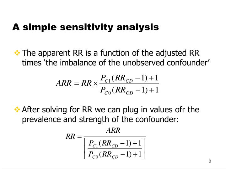 A simple sensitivity analysis