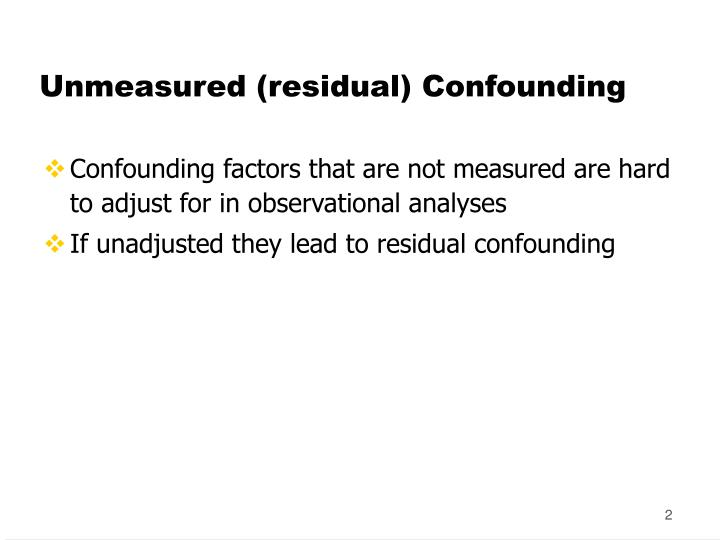 Unmeasured residual confounding