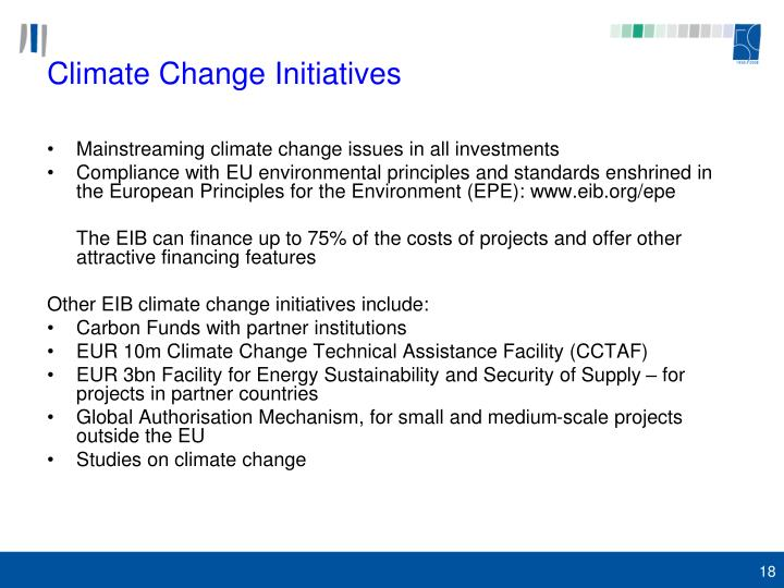 Climate Change Initiatives