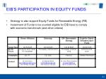 eib s participation in equity funds