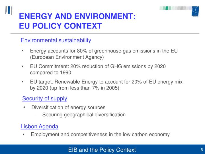 ENERGY AND ENVIRONMENT: