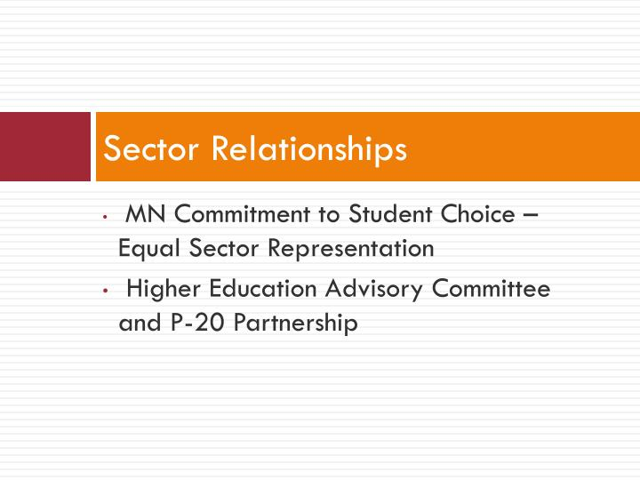 Sector Relationships