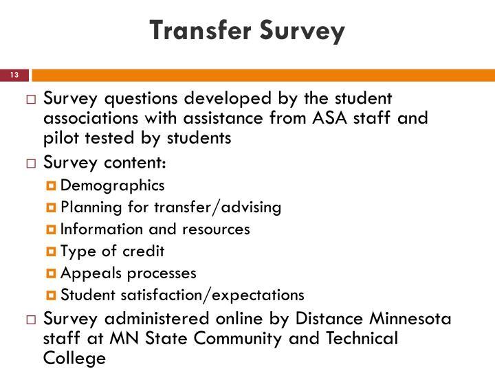 Transfer Survey