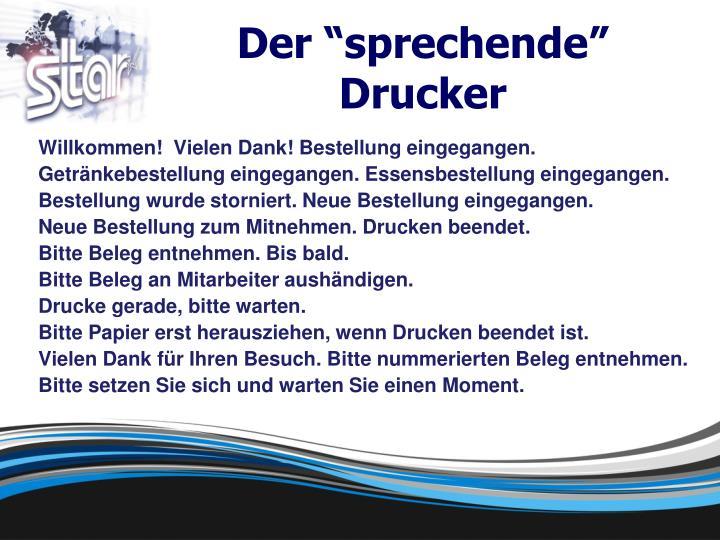 """Der """"sprechende"""" Drucker"""