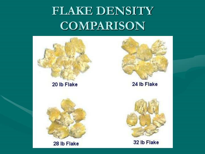 FLAKE DENSITY COMPARISON