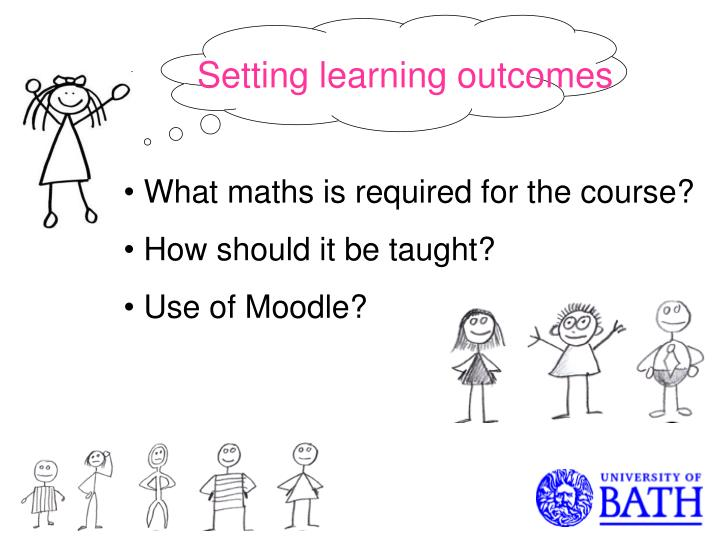 Setting learning outcomes