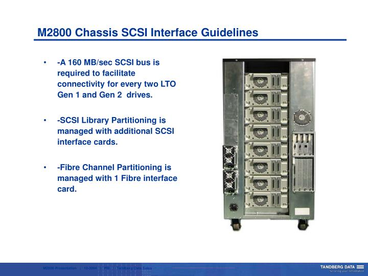 M2800 Chassis SCSI Interface Guidelines