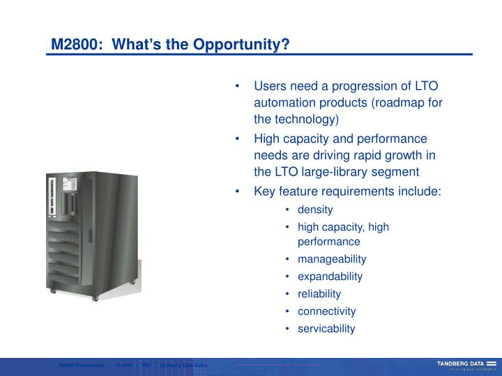 M2800:  What's the Opportunity?