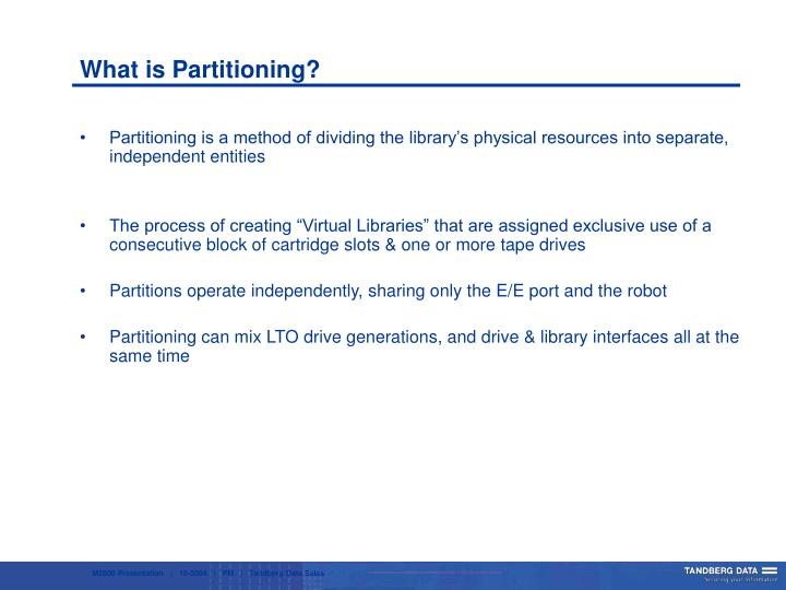 What is Partitioning?