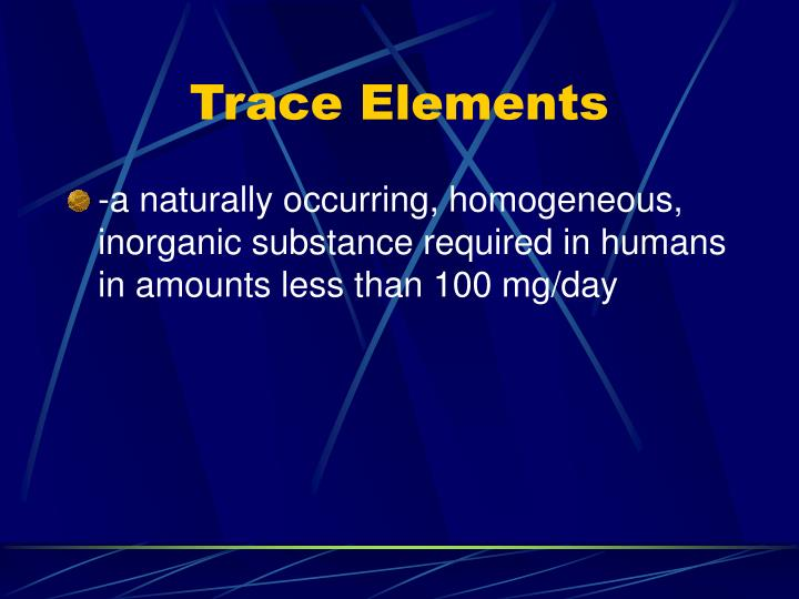 Trace elements1
