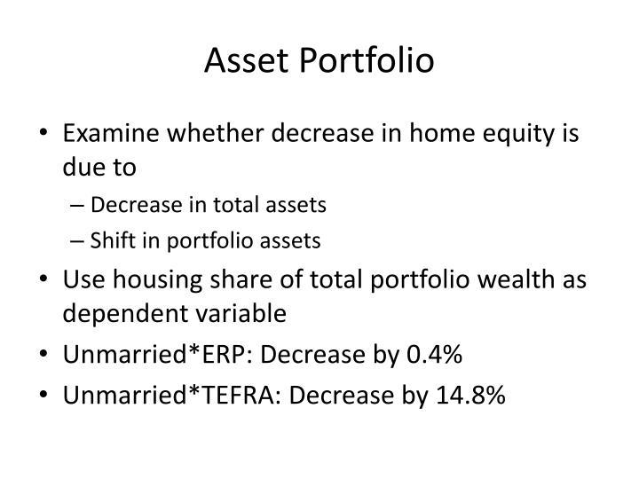 Asset Portfolio