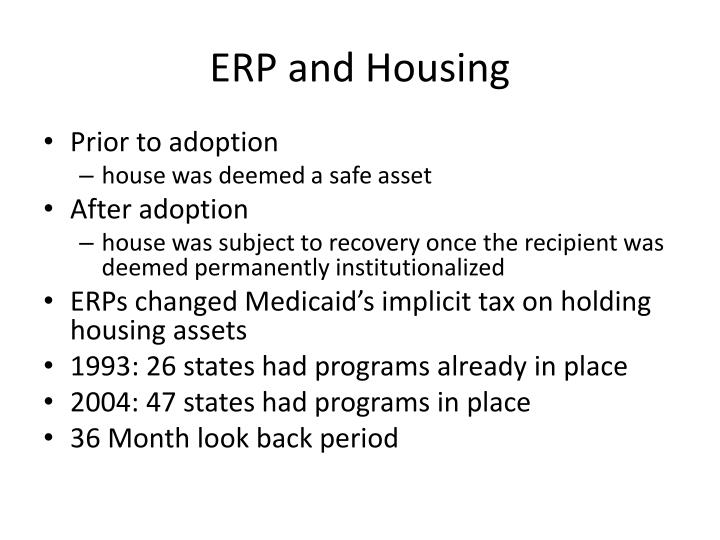 ERP and Housing
