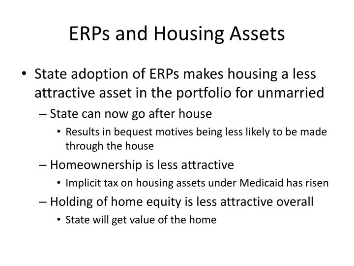 ERPs and Housing Assets