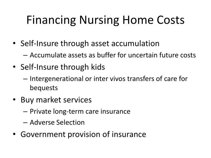 Financing Nursing Home Costs