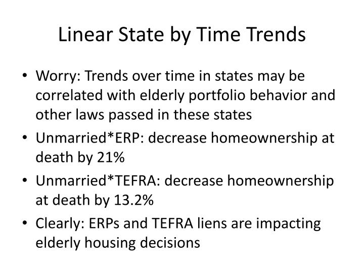 Linear State by Time Trends