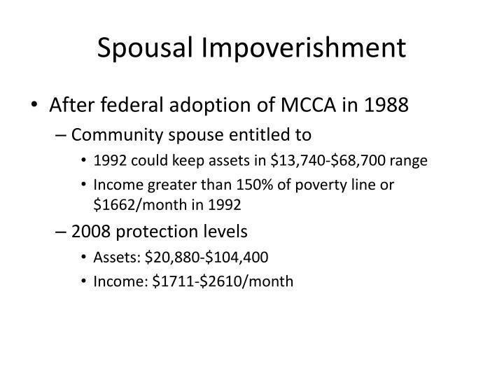 Spousal Impoverishment