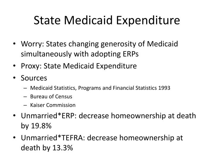 State Medicaid Expenditure