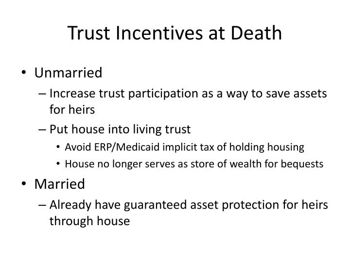 Trust Incentives at Death